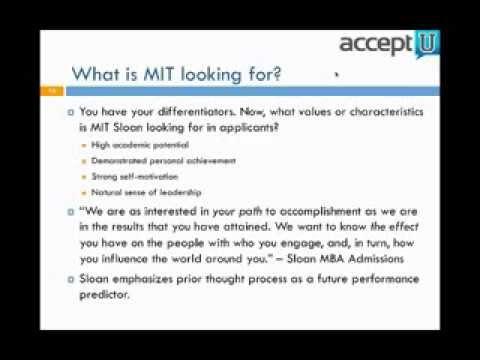 2013-2014 MIT Sloan MBA Essay Analysis