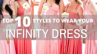 Top 10 Styles To Wear A Convertible Infinity Dress | Pink Book Weddings