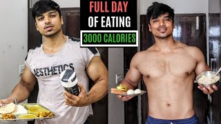 Full day of EATING🇮🇳| (3000 calories INDIAN Bodybuilding Diet Plan