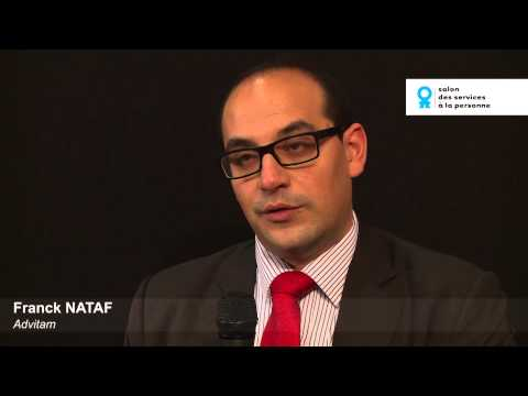 Franck Nataf, Advitam, au Salon des services à la personne 2014