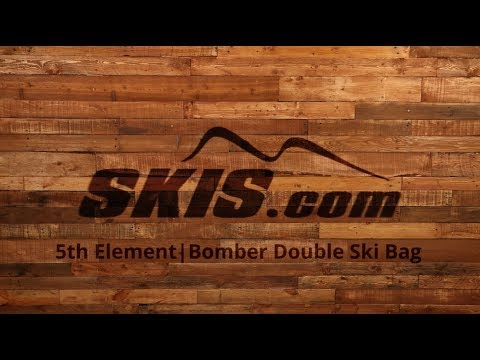 2018 5th Element Bomber Double Wheeled Ski Bag Overview by SkisDotCom