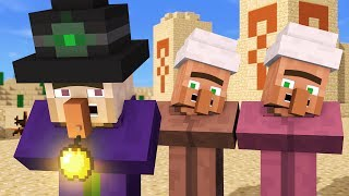 Villager & Witch Life 4 - Alien Being Minecraft Animation