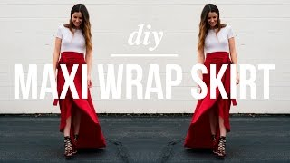 Long Maxi Wrap Skirt