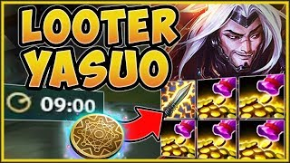 FASTEST ITEM RUSH?? GOLD GENERATOR YASUO IS 100% NUTTY! YASUO S9 TOP GAMEPLAY!   League Of Legends