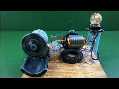 How to make mini diy electricity free energy generator with dc motors – Experiment science project