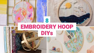 These 8 Embroidery Hoop Crafts Are Perfect For The Weekend
