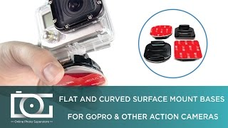 SURFACE MOUNT GOPRO | How To Use a Flat and Curved Surface Mount Bases for GoPro