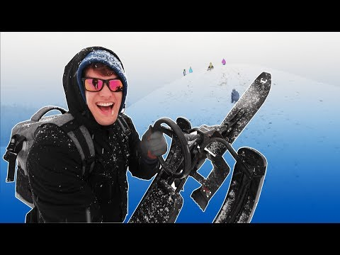 SLED WITH A STEERING WHEEL - BEST SLED EVER! Best Sledding Video -  FRANKIETV