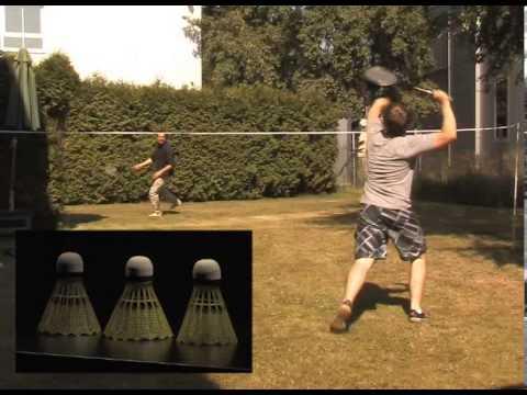 Speeron Komplettes Badminton-Set: 2 Schläger, Netz & Federbälle