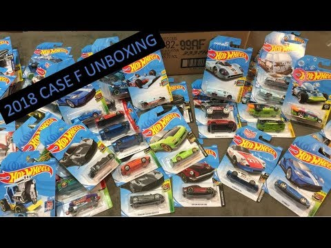 Hot Wheels Unboxing - 2018 Case F Opening - Nice Case & Gulf Cars!