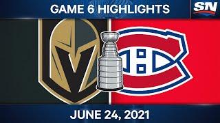 NHL Game Highlights | Canadiens vs. Golden Knights, Game 6 - Jun. 24, 2021