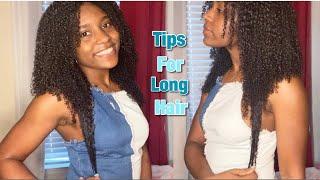 Easy Tips To Grow LONG Natural Hair || How I Grew My Hair!