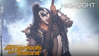 "KISS Performs ""Detroit Rock City"" on AGT - America"