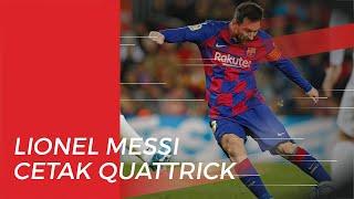 Taklukkan Eibar 5-0, Lionel Messi Cetak Quattrick yang Ketujuh