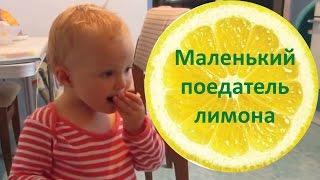 Прикол: ребенок ест лимон. Очень смешное видео:)