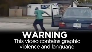 WARNING: Graphic violence - real-time events of Walter Scott shooting