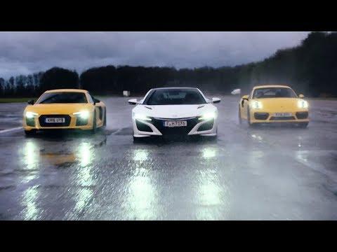 Honda NSX vs Audi R8 V10 vs Porsche 911 Turbo | Chris Harris Drives | Top Gear