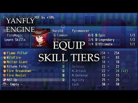 YEP 91 - Equip Skill Tiers - RPG Maker MV - смотреть онлайн