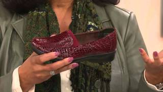 Easy Street Patent Croco Slip-On Shoes - Gage with Leah Williams