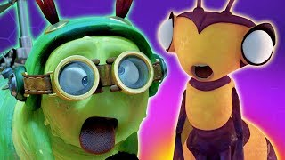 SPOOKY BEE   Insect Cartoons For Children   Oddbods & Friends