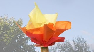Flambeau olympique fait avec un tube