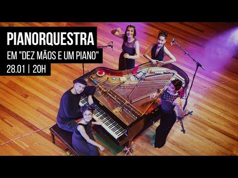 """PianOrquestra apresenta espetáculo """"Dez mãos e um piano"""""""
