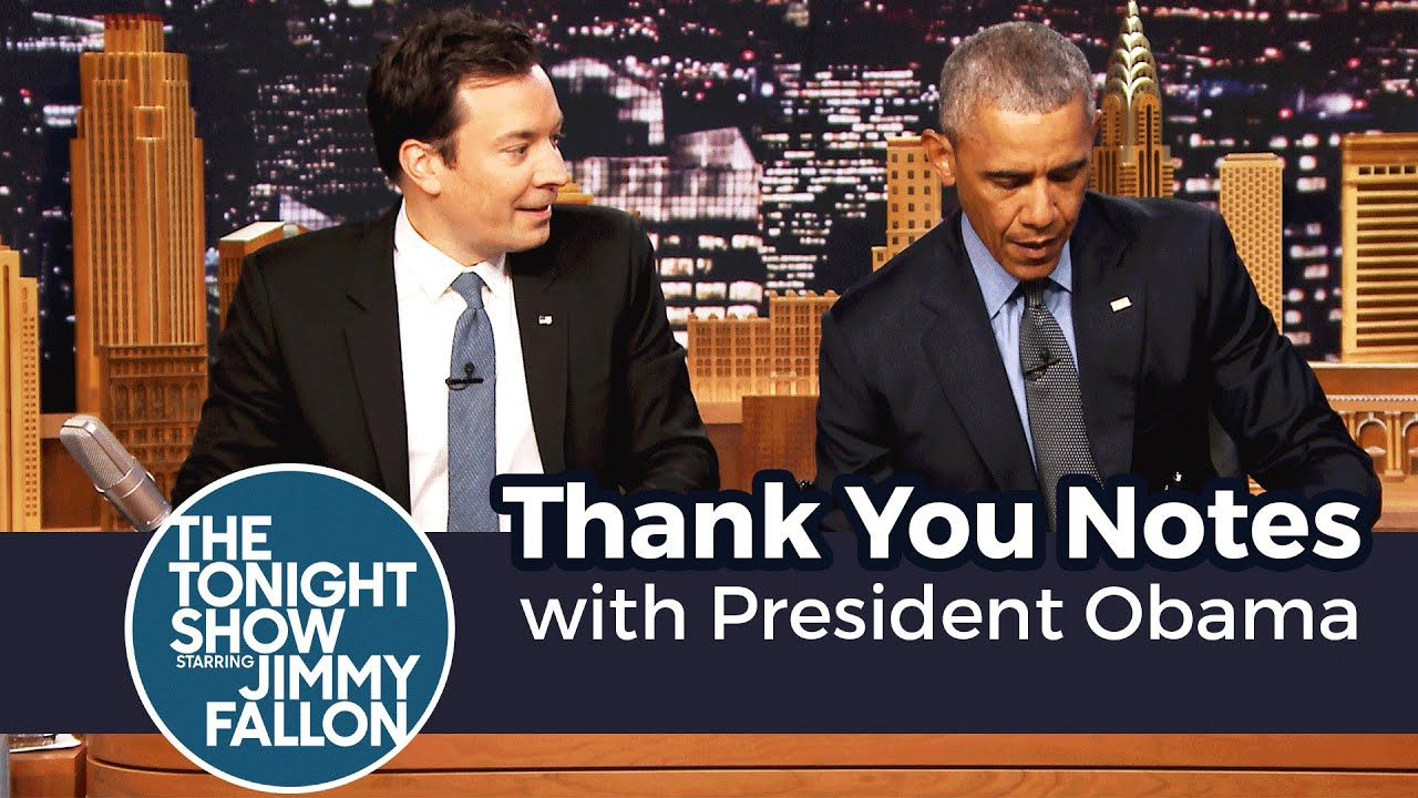 Thank You Notes with President Obama thumbnail