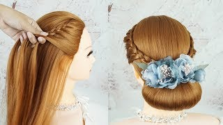 Easy Hairstyles For A Special Occasion | Elegant Hairstyle | Bridal Updo Hairstyle Tutorial