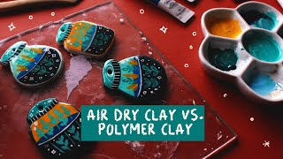 AIR DRY CLAY VS POLYMER CLAY | DIY ILLUSTRATED KEYCHAINS