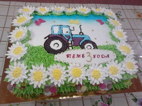 Как украсить торт мальчику на 3 года