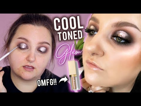 PRETTIEST GLITTER I'VE EVER USED..!? COOL TONED GLAM TUTORIAL