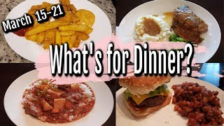 WHAT'S FOR DINNER? | MARCH 15-21 | EASY DINNER IDEAS | MANDY IN THE MAKING