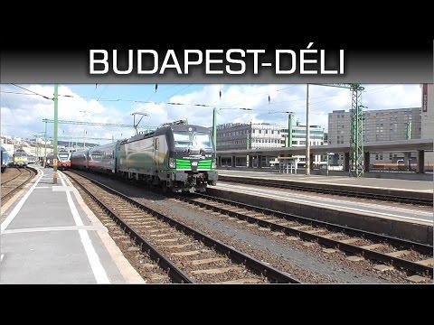 Vonatok Budapest-Déli pályaudvaron / Trains in Budapest-South railway station letöltés