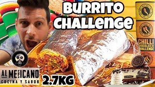 BURRITO Challenge 2.5 KG - Italiano Cheat day - MAN VS FOOD (ENG SUB)