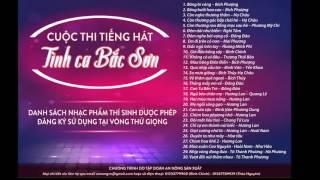 Danh sách bài hát tình ca Bắc Sơn