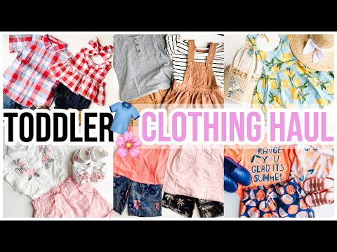 HUGE TODDLER CLOTHING HAUL! AFFORDABLE FASHION SPRING HAUL 2019! 👗👕🌸 Brianna K