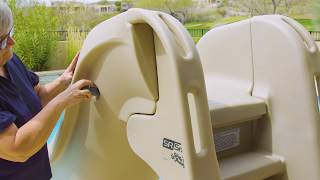 b2171096f For SR Smith SlideAway Pool Slide Installation Video