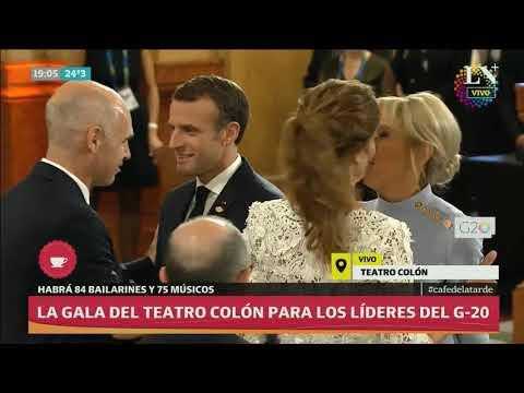 G-20: Abe, Macron y Merkel llegaron al Teatro Colón