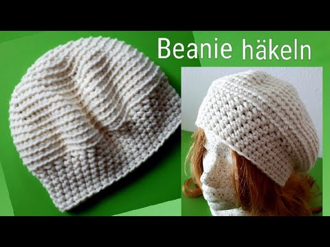 einfache Mütze häkeln Nr. 2 , Beanie