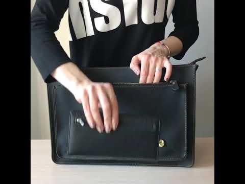 Мужской кожаный портфель TIDING BAG 7205A Video #1