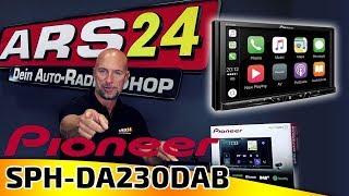 Pioneer SPH-DA230DAB | 2-DIN Autoradio mit DAB+ | Apple CarPlay und Android Auto | ARS24