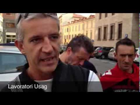 I lavoratori Usag in presidio a Varese