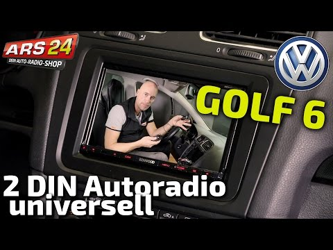 VW Golf 6 Doppel-DIN Autoradio einbauen | TUTORIAL | ARS24.com