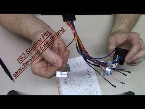 ISO Stecker Pin tauschen und Erläuterung
