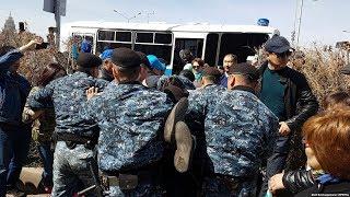 Жесткие задержания на митинге в Астане. 10 мая 2018 года/ БАСЕ