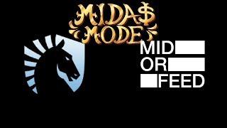 Liquid vs Mid or Feed Midas Mode Highlights Dota 2