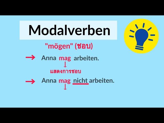 เรียนภาษาเยอรมัน   Modalverben
