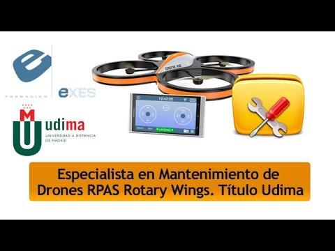 Curso Especialista en Mantenimiento de Drones-Rpas Rotary Wings de Curso Especialista en Mantenimiento de Drones-Rpas Rotary Wings - Título Propio Udima en Exes Formación
