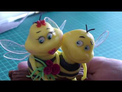 Как сделать пчёлок из мастики для торта