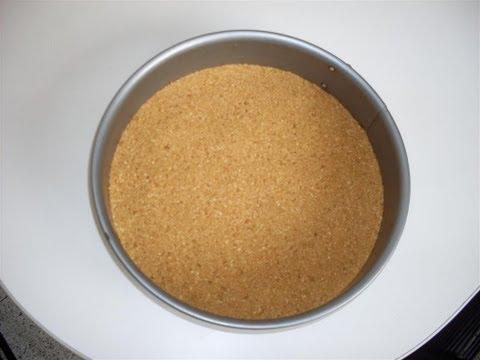 ¿Cómo hacer una base de galletas para pastel?